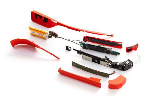 谷歌智能眼镜拆解组件图