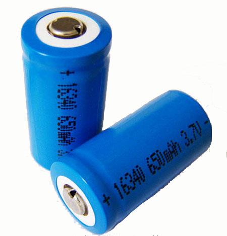 16340锂电池 650mAh 3.7V